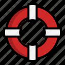 beach, float, lifebuoy, lifesaver, safe icon