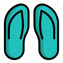 beach, casual, footwear, sandals, slippers icon
