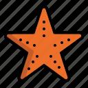 animal, beach, creatures, star, starfish icon