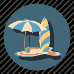 ball, board, protection, sport, sunbeam, umbrella icon
