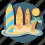 beach, board, fun, sport icon