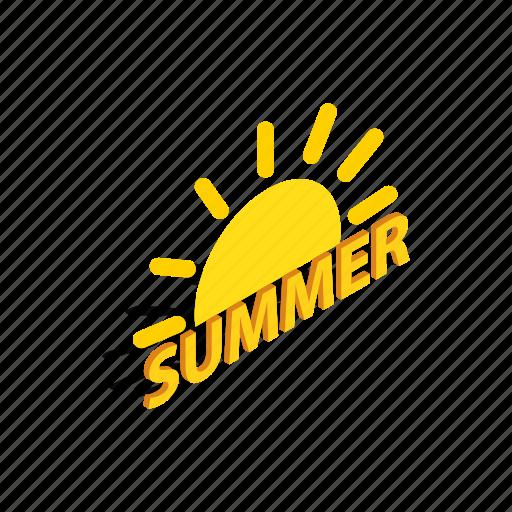 cooling, heat, isometric, summer, sun, sunlight, sweet icon