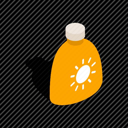 cream, isometric, lotion, protection, skin, sun, sunlight icon