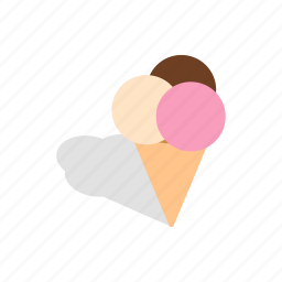 cold, cool, cream, frost, ice, isometric, waffle icon