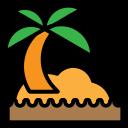 beech, holidays, ocean-, summer, tree icon