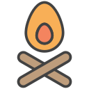 bonfire, camping, flame, nature icon