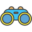 goggles, sea, sight, swimming icon