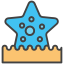 aquatic, decoration, sea, starfish icon