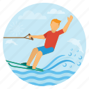 beach, holiday, sailboarding, surf board, surfing, travel, vacation icon