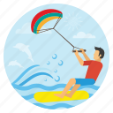 beach, sports, summer, surfing, surfingboat, travel, vacation icon