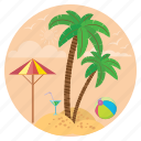 beach, holidays, relaxation, surfing, travel, vacation icon