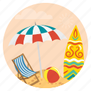 beach, beachrelaxation, enjoy, holiday, summer, travel, vacations icon