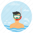 beach, holiday, scuba, scuba diving, surfing, travel, vacation icon