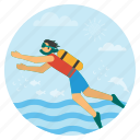 adventour, beach, diving, oxygen, scubaoceandiving, summer, vacation icon