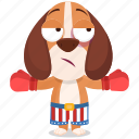 beagle, boxer, emoji, emoticon, smiley, sticker icon