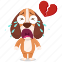 beagle, broken, emoji, emoticon, heart, smiley, sticker icon