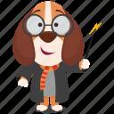 beagle, emoji, emoticon, harry, potter, smiley, sticker icon