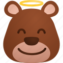 angel, bear, emoji, health, heart, love, romantic icon