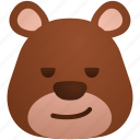 avatar, bear, cool, emoji, emoticon, face, smiley icon