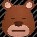 animal, bear, cute, dissapointed, emoji, teddy icon