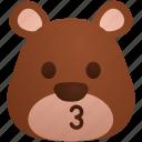bear, emoji, kiss, kissing, toy, zoo icon