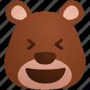 avatar, bear, face, funny, happy, lol, user icon