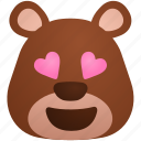 bear, couple, emoji, like, love, romance, romantic icon