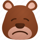 animal, animals, bear, pensive icon