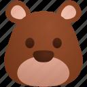 bear, emoji, expression, face, feeling, poker icon