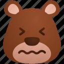 avatar, bear, emoji, expression, face, sick icon