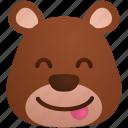 bear, emoticon, emoticons, expression, face, smiley, sticker icon