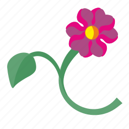 cut, flower, plant, rose icon