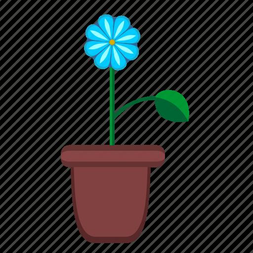 flower, home, leaf, plant, pot icon
