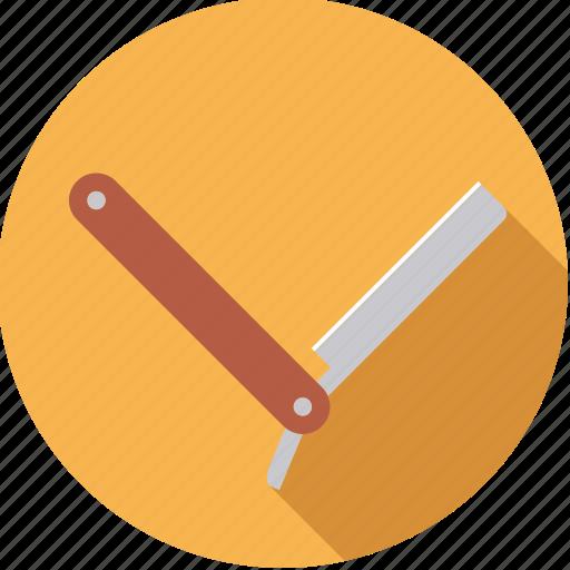 barber, bathroom, body care, knife, razor icon