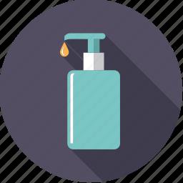 bathroom, body care, dispenser, hygiene, liquid, soap icon