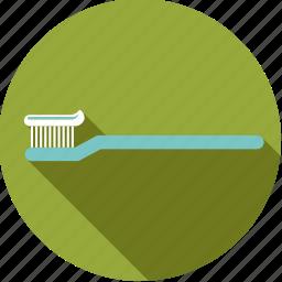 bathroom, body care, dental, hygiene, toothbrush icon