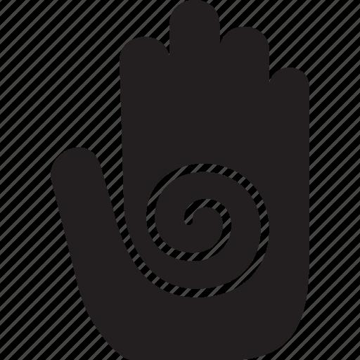 gesture, hand, spiral icon
