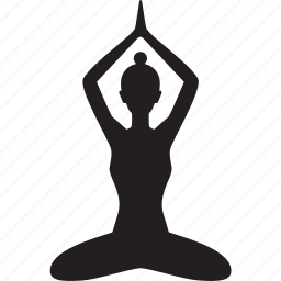 beauty, lotus, position, spa, yoga icon