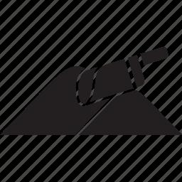 blade, powder, sand icon