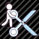 cleave, scissor, tailor scissor, tailor shear, trimming scissor icon