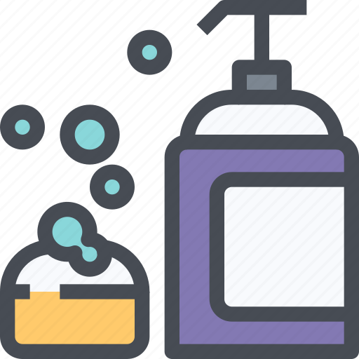 beauty, cleansing, foam, hygiene, shampoo, soap icon