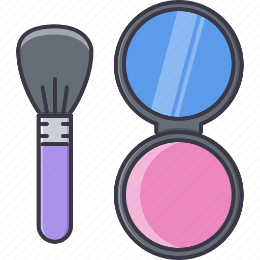 beauty, box, brush, makeup, mirror, puff, style icon