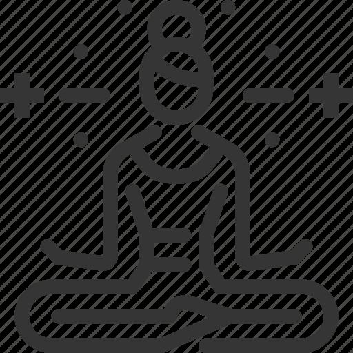 buddhism, lotus position, meditation, relaxing, sports, woman, yoga icon