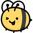 bee, emoji, emotion, expression, face, feeling, naughty