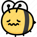emoji, feeling, expression, face, nervous, emotion, bee