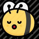 bee, emoji, emotion, expression, face, feeling, sleeping icon