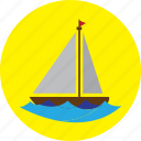 beach, boat, holiday, sea, ship, travel icon