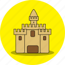 beach, castle, holiday, house, playhouse, sand, sand home icon