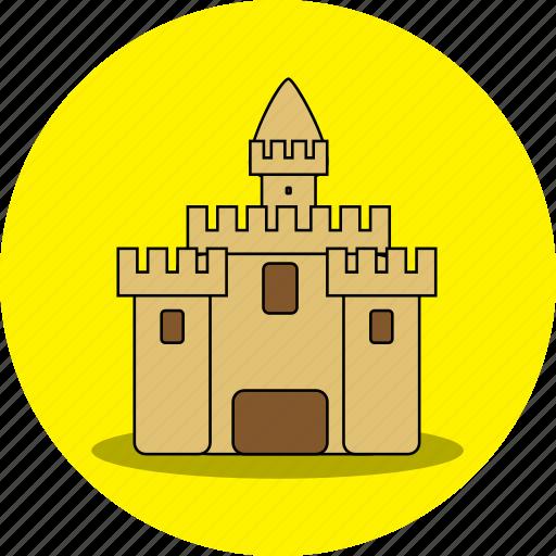 beach, castle, holiday, house, playhouse, sand, sand home icon