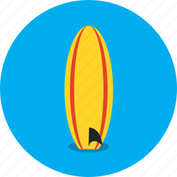 beach, boat, holiday, sea, surfboard, surfing, vacation icon